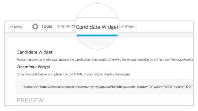 Candidate Widget