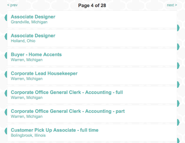 Job Listings in the Recruiting.com CRM