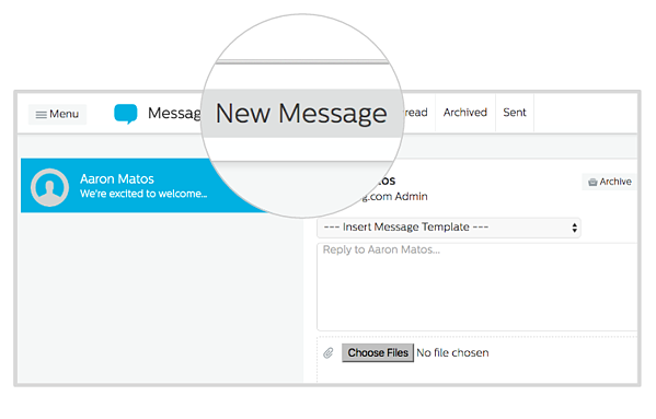 New Message Page
