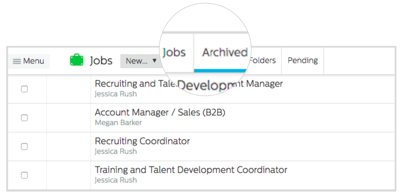 Jobs in the Recruiting.com CRM