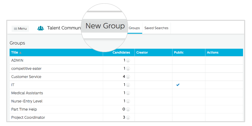 Add group to Recruiting.com CRM